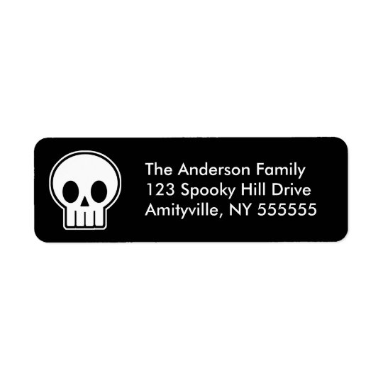 Personalised Vector Skull Return Address Labels