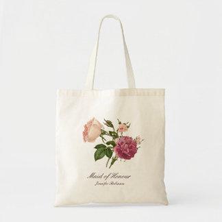 Personalised Victorian Botanical Floral Tote Bag
