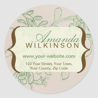 Personalised Vintage Address Stickers