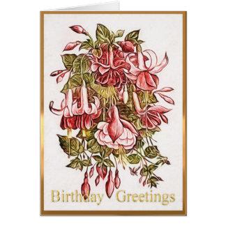 Personalised Vintage Birthday Greetings Card