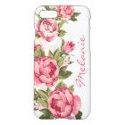 Personalised Vintage blush pink roses Peonies iPhone 8/7 Case