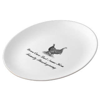 Personalised Vintage Family Thanksgiving Porcelain Plate