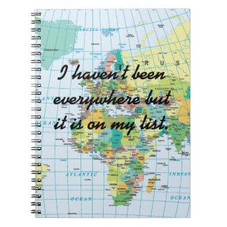Personalised Vintage Map Spiral Notebook