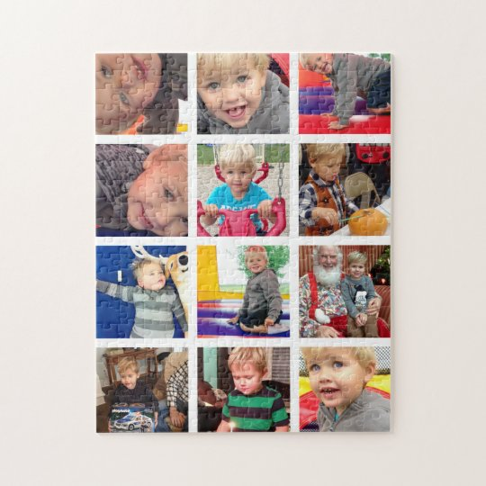 Personalised Vintage Photo Collage Jigsaw Puzzle