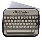 Personalised Vintage Typewriter Laptop Sleeve
