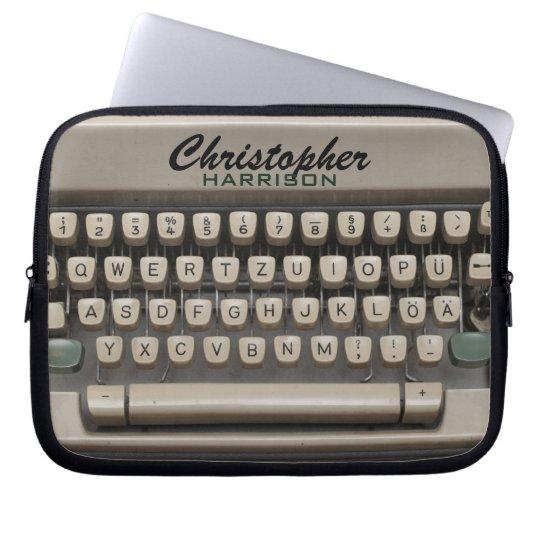 Personalised Vintage Typewriter Laptop Sleeve