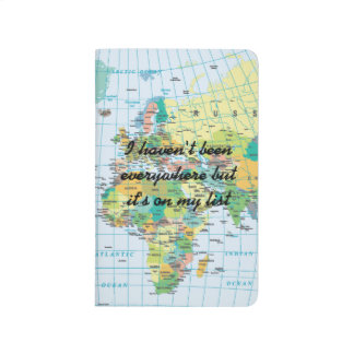 Personalised Vintage World Map Travel Journal