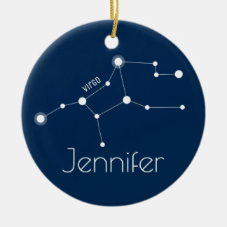 Personalised Virgo Constellation Ornament