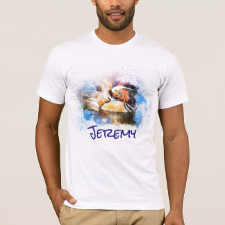 Personalised Watercolor Wood Duck T-Shirt