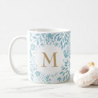 Personalised Watercolour Floral Pattern Mug