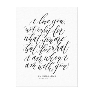 Personalised Wedding Calligraphy Love Quote Sign