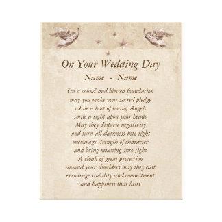 Personalised Wedding Day poem canvas art. Canvas Print