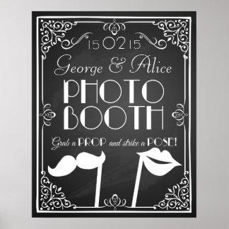 Personalised wedding  photo booth sign chalkboard
