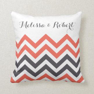 Personalised Wedding Pillow | Chevron Stripes