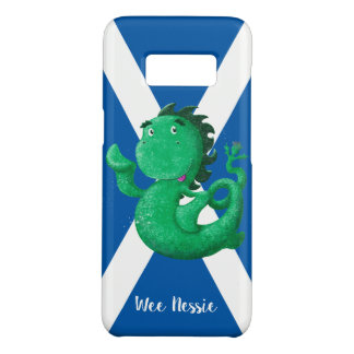 Personalised Wee Nessie Waves Hello! Saltire Case-Mate Samsung Galaxy S8 Case