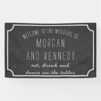 Personalised Welcome Chalkboard Wedding Banner
