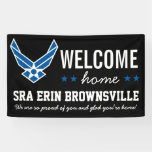 Personalised Welcome Home Airman Banner