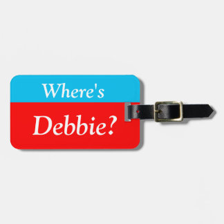 Personalised Where's (your name)? Luggage Tag