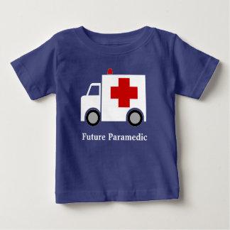 Personalised| White Ambulance | Future Paramedic Baby T-Shirt