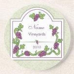 Personalised Wine coasters