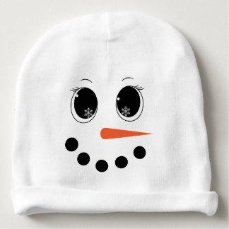 Personalised Winter Snowgirl Baby Hat Beanie Baby Beanie