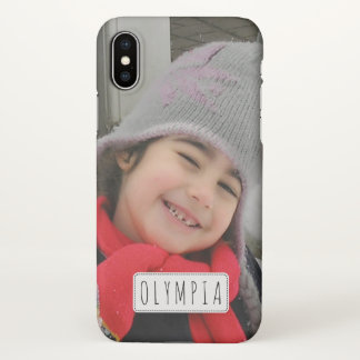 Personalised with photo and name iPhone X case