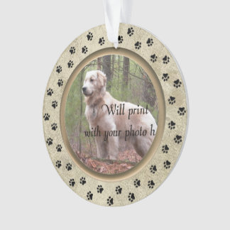 Personalised with Photo and Verse Pet Memorial Ornament