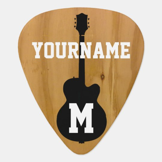 personalised wood-colour standard plectrum
