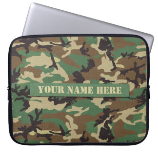 Personalised Woodland Camouflage Laptop Sleeve
