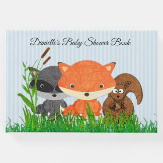 Personalised Woodland Creatures Baby Shower Book