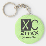 Personalised XC Keychain Cross Country Running