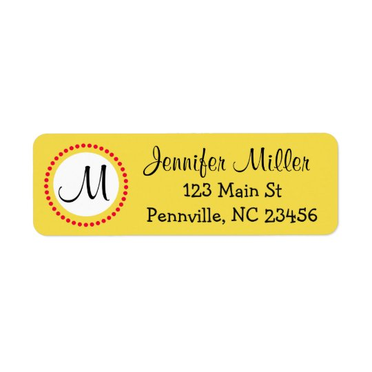 Personalised Yellow and Red Return Address Labels