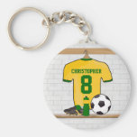 Personalised Yellow Green Football Soccer Jersey