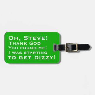 Personalised You Found Me Luggage Tags