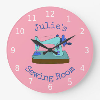 Personalised your name, sewing room large clock