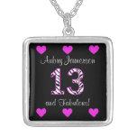Personalised Zebra: 13th Birthday Necklace