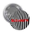 Personalised Zebra Stripes Badge