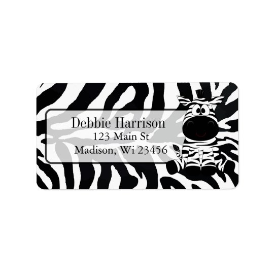 Personalised Zebra Stripes Return Address Labels