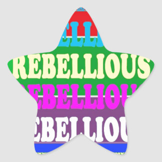 PERSONALITY REBEL REBELLION Express: lowprice Star Sticker