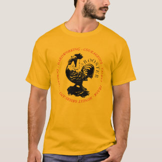 Personality Rooster Chinese Zodiac Sign L Shirt