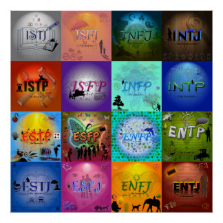 Personality Type Table Poster (original design)