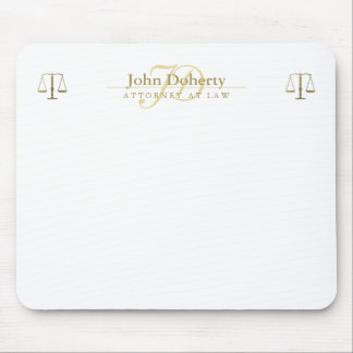 Personalizable ATTORNEY AT LAW | Gold Mouse Pad