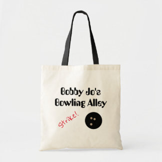 """Personalizable Bowling Alley """"Strike!"""" with Ball Tote Bag"""