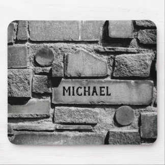 Personalizable Brick Wall Cool Arrangement Mouse Pad