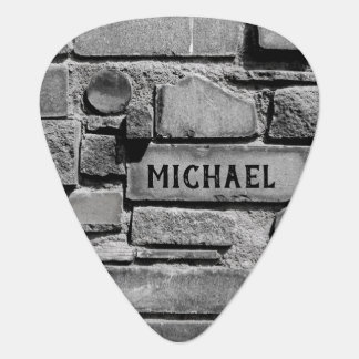 Personalizable Brick Wall Cool Arrangement Plectrum