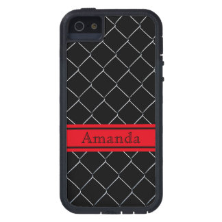 Personalizable Chain Link Fence Pattern iPhone 5 Case