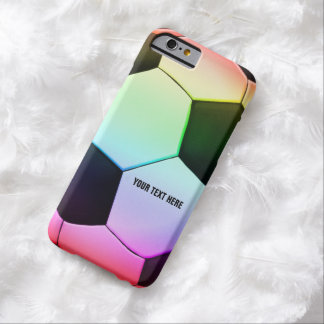 Personalizable colorful Soccer | Football Barely There iPhone 6 Case
