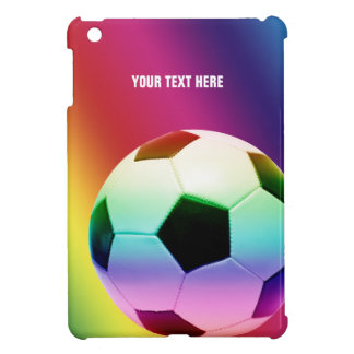 Personalizable Colorful Soccer | Football iPad Mini Cases