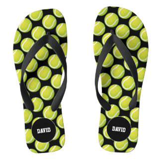 Personalizable | Cool Tennis Pattern Sport Gift Thongs