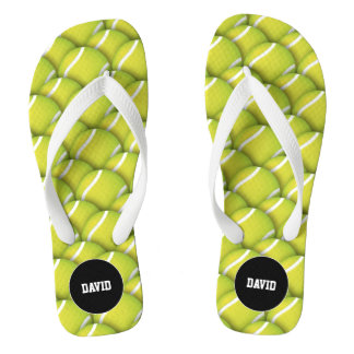 Personalizable Cool Tennis Pattern Sport Gift Thongs